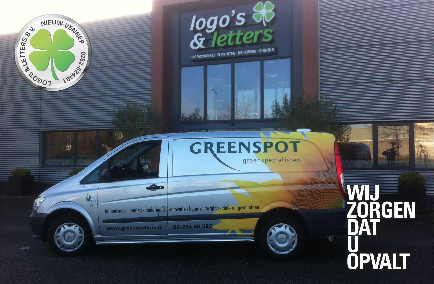 Belettering Greenspot