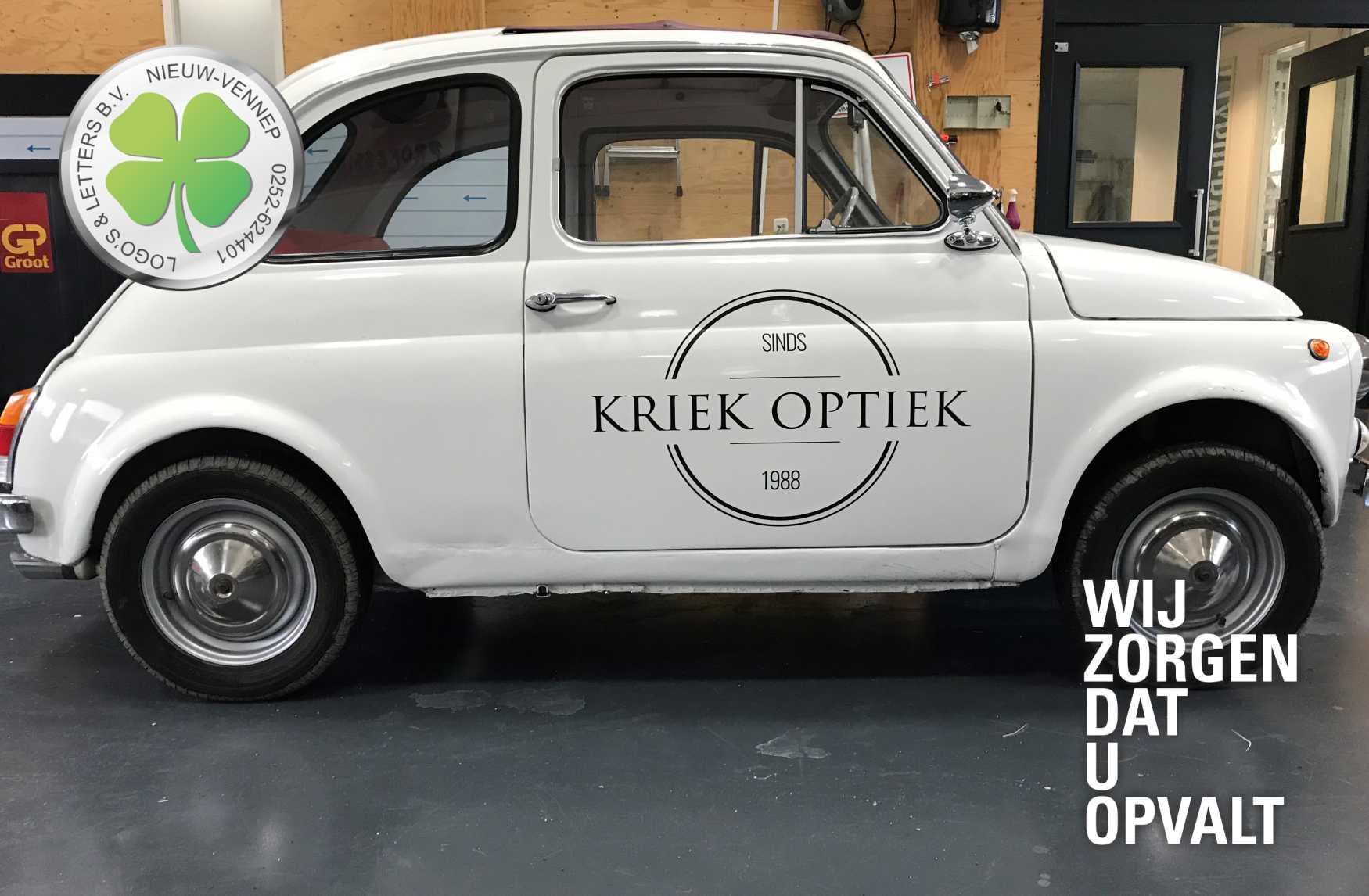 Belettering Fiat500 Kriek Optiek
