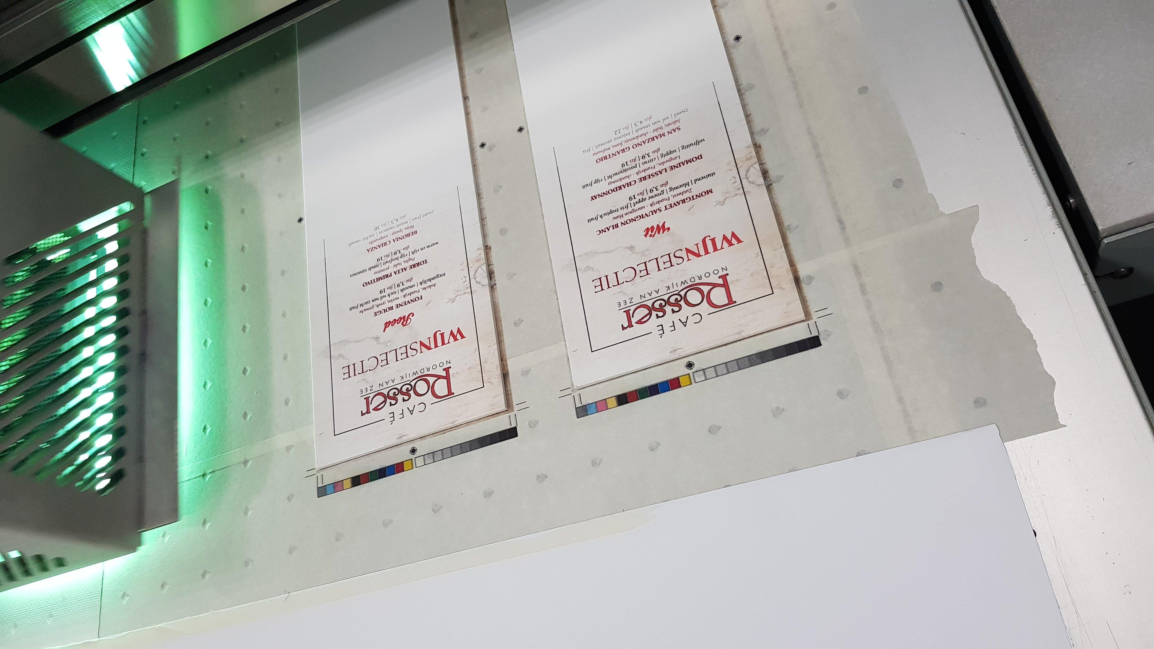 Direct printen op materiaal!